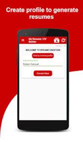 Resume Builder Free 5 Minute Cv Maker Templates Apps On Google Play