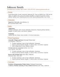 7 Free Resume Templates Job Resume Template Resume