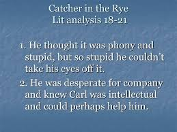 in the rye literary analysis essay catcher in the rye literary analysis essay