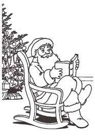 Santa Claus With Gifts Christmas Coloring