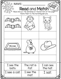 A simple sentences worksheet to use in conjunction with cvc ccvc and cvcc flashcards. Cvc Words Sentence Worksheets Teachers Pay Teachers