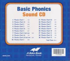 Phonics Chart Abeka Basic Phonics Sounds Cd Grades K4 2