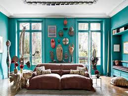 blue green painted room inspiration