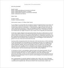 11 Recommendation Letters For Employment Free Sample Example
