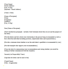 Personal Character Reference Letter Template For Court