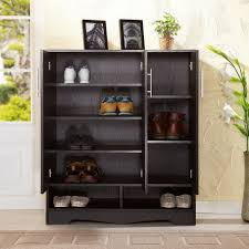 interior, Entiching Room Decor With Attractive Style Of Best Covered Shoe  Rack Made Of Wooden