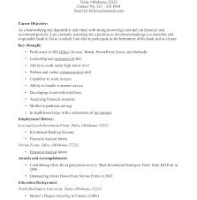 Example Of Entry Level Resume Adorable Good Objective For Entry Level Accounting Resume Sample Objectives