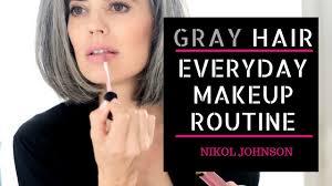 gray hair my everyday makeup routine nikol johnson