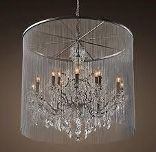 vaille crystal grey large chandelier large