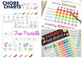 10 Best Free Printable Chore Charts For Kids Green