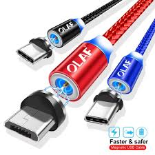 Sento.lk - <b>OLAF Magnetic Cable</b> Braided LED Type C Micro ...
