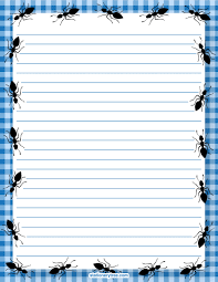 printable stationery and writing paper ant stationery