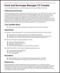 Resume For Food Server Free Creative Resume Templates Food Server Sample Resume Bino