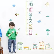Children Number Kid Height Measurement Growth Chart Wall