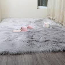 whole faux sheepskin rugs from china intended for area rug white fur ship skin large deer soft cowhide blue bear flokati animal hide