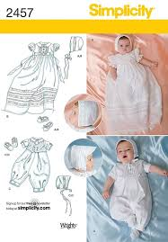 sewing projects for the home uk. 2457 babies\u0027 special occasion christening sets sewing patterns with bonnet and shoes included. in three sizes. projects for the home uk p
