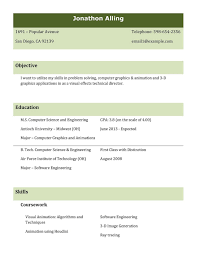 Sample Resume For Computer Science Student Fresher Resume For