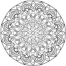 Complicated Mandala Coloring Pages At Getdrawingscom Free For