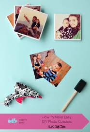 turn your favorite family photos into gorgeous diy photo coasters this project is an easy handmade gift idea that costs less than 5 00 to make
