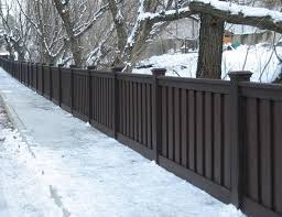 Wonderful Vinyl Privacy Fence Ideas Dark Brown To Inspiration