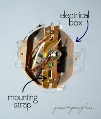 how to replace a light fixture grace gumption installing an old work electrical box