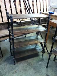 fresh design cast iron pipe shelves custom made pair of reclaimed oak and industrial cast iron