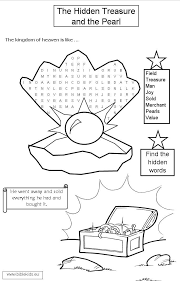 Small Picture Parables of the Pearl and Hidden Treasure Coloring Pages