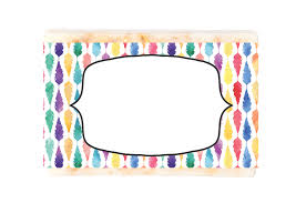 Water Color 5 Soap Label Template