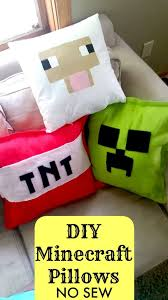 diy minecraft pillows no sew tutorial sheep creeper and tnt so with homemade presents for kids to make