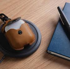 grab this stylish qi compatible leather airpods case for a steal