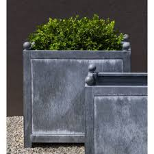zinc box hill square outdoor metal planters large