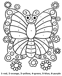 Enjoy these free coloring pages to color, paint or crafty educational projects for young children and the young at heart. Butterfly Worksheet Color By Number