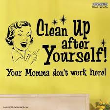 wall decals clean up after yourself vinyl es by decalsmurals 24 99