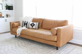 reviewing sven leather sofa from article honestly
