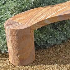curved rainbow stone garden bench