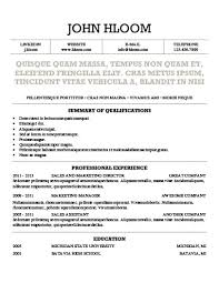 Simple Resume Templates [75 Examples - Free Download]