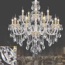 high clear k9 crystal chandelier for living room res de in 15 light oversized crystal