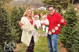 Family Christmas Portrait  Christmas Tree Farm  Holding A Christmas Tree Farm Family Photos