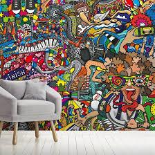 sports graffiti wallpaper wallsauce ca