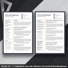 Resume Template Cv Template Cover Letter For Ms Word Professional