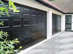 black garage doorSectional Overhead garage Doors Gallery Hormann LPU40  Overhead