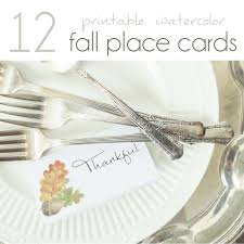 Fall Place Cards 12 Printable Fall Place Cards Pocketful Of Posies