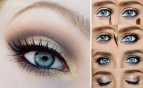 easy step by step makeup tutorials for blue eyes