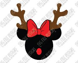 Download now the free icon pack 'christmas'. Minnie Mouse Reindeer Christmas Svg Cut File Set For Diy Disney Shirts