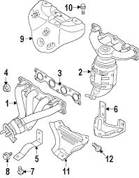 parts com® kia forte koup exhaust components oem parts 2012 kia forte koup ex l4 2 0 liter gas exhaust components