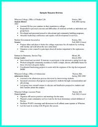 Sample Of Resume For College Student Sample Resumes With No Experience College Student Resume Examples 41