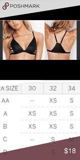 3 25 Victorias Secret Black Razorback Bralette Nwt