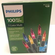 Philips 100 Green Mini Lights Philips Christmas 100 Multi Color Indoor Outdoor Mini Lights Green Wire