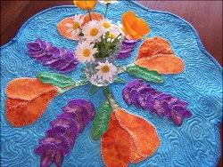 24 Sweet Spring Quilt Patterns and Easter Sewing Projects ... & Flower Quilt Patterns. Spring Table Topper Adamdwight.com
