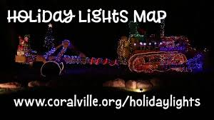 Coralville Holiday Lights Holiday Lights Map